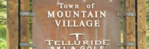 Mountain Village Entrance Sign