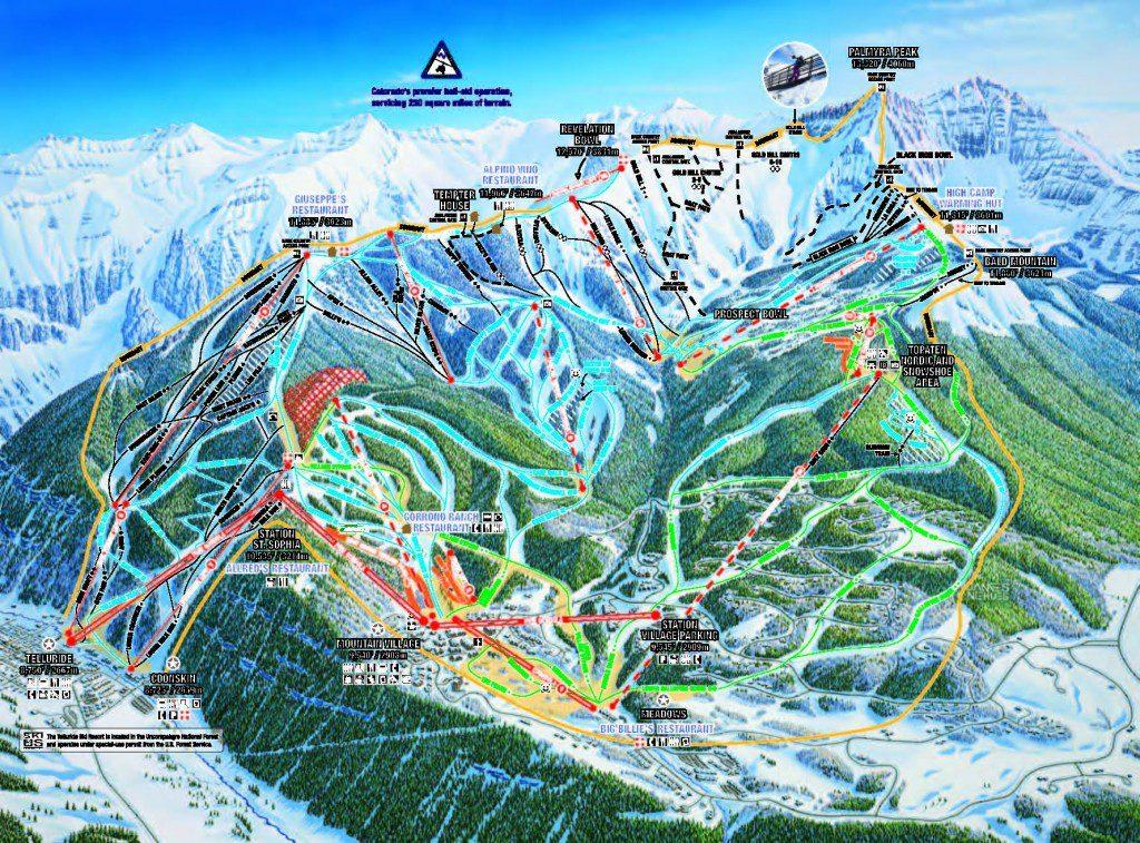 Ski Area - Map